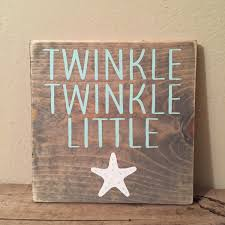 star decor for home twinkle twinkle little star wood sign starfish nursery