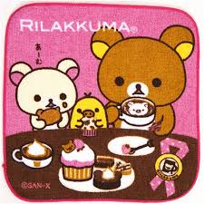 cute rilakkuma bear towel chocolate coffee cake bento