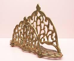 letter holder brass ornament letter rack scrolls metal