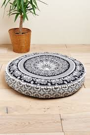 earthbound home decor black and white elephant floor pouf earthbound trading co