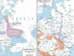 Europe Map In 1914 by Of Wwi Eastern Front 1917 8