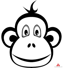 monkey face coloring page clipart wikiclipart