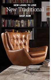 Leather Occasional Chairs Pottery Barn - Leather chairs living room
