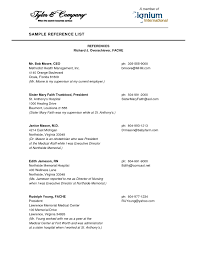 How To List Jobs On Resume Job Resume Reference Page Sidemcicek Com