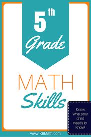 5th grade skills