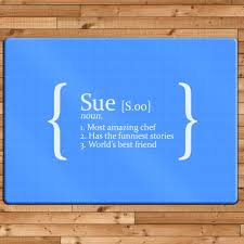 personalised definition glass chopping board kitchen pinterest