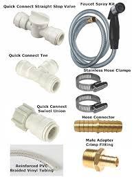 water hose connector for kitchen sink kitchen sink spray hose water line and cream set gougleri com
