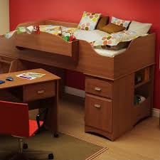South Shore Imagine Twin Wood Loft Bed Set In Morgan Cherry A - South shore bunk bed