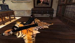 second life marketplace tiger skin rug 2 prim 2 anims