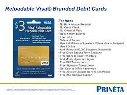 free reloadable debit card prineta sell prepaid program