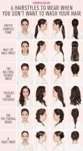 non hairstyles 6 hairstyles for when you just can t wash your hair bad hair