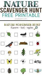 nature scavenger hunt and summer adventures nature scavenger