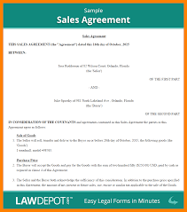 14 sales agreement template awards templates