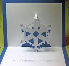 cards and papercrafting easy pop up snowflake cards