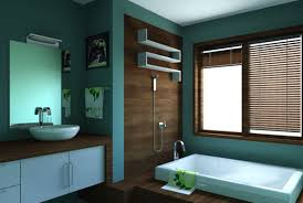 Light Blue And Brown Bathroom Ideas Bathroom Wall Blue Color Design Idea That Has Small