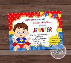 superman baby shower baby shower invitation superman baby shower