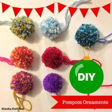i ll a glue glue 10 pompom ornaments alaska