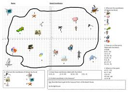 map using coordinates coordinates in all four quadrants map by hanz1808 teaching
