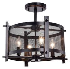 industrial semi flush mount lighting vaughn 4 light semi flush mount industrial flush mount ceiling