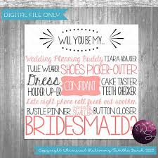 Cards To Ask Bridesmaids Bridesmaid Proposal Cards