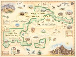 badlands national park map badlands national park map illustrated by xplorer maps