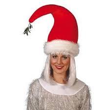 mistletoe hat santa hat with mistletoe attached co uk kitchen home