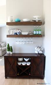 Pretty Preppy Party March Features Wine Rack Shelves And Wine - Floating shelves in dining room
