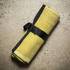 cool hoses recycled fire hose tool roll yellow black cool material gear
