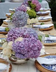 hydrangea wedding centerpieces blue willow burlap and silver centerpieces e c wedding ideas