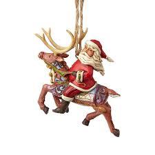 santa reindeer ornament jim shore