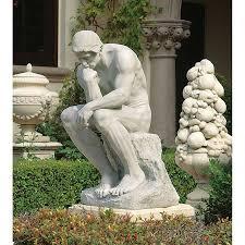 rodin s thinker garden statue grande rodin sculptor and