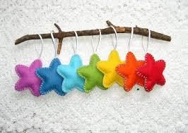 felt ornaments rainbow home decor rainbow