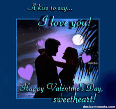 love you sweet heart wallpapers a kiss to say i love you happy valentine u0027s day sweetheart