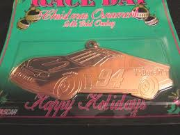 nascar ornament bill elliott car 94 mcdonalds 24k overlay