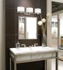 bathroom black round wood lights above mirror rustic wall mounted