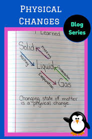 chemical and physical changes classroom ideas pinterest