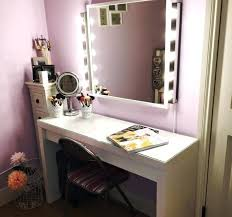 inspiring vanity desk with lights and mirror gallery ideas house