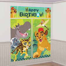 halloween scene setters room rolls disney the lion guard king party scene setter wall decoration