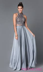 high neck dress two jeweled high neck prom dress promgirl