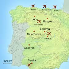 Asturias Spain Map by Inland Spain Touring Holidays