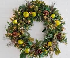 wreath lights white lighted outdoor