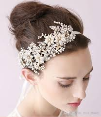 handmade tiaras 2015 vintage bridal headpiece headband bridal hair flower