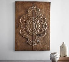 carved wood plank pottery barn