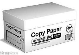 paper ream box multi purpose printer copy paper 8 5x11 letter 5000 sheets 10