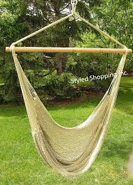 deluxe extra large tan soft poly hammock swing chair ebay