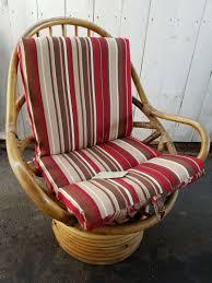 Wicker Lounge Chair Java Handmade Design Vintage Bamboo Boca Rattan Swivel Rocker