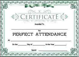 attendance award certificate template sample templates yang