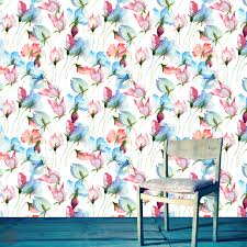 Wallpaper Removable Removable Wallpaper Watercolor Floral Peel U0026 Stick Self
