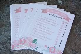bridal shower groom questions rustic pink bridal shower