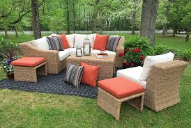 Patio Furniture Covers Amazon Com - amazon com ae outdoor sec200340 8 piece arizona sectional with